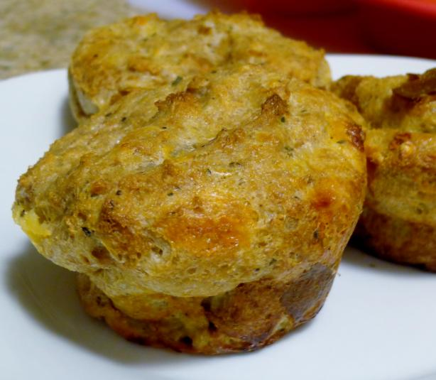 Savory Bread Pudding Cupcakes
