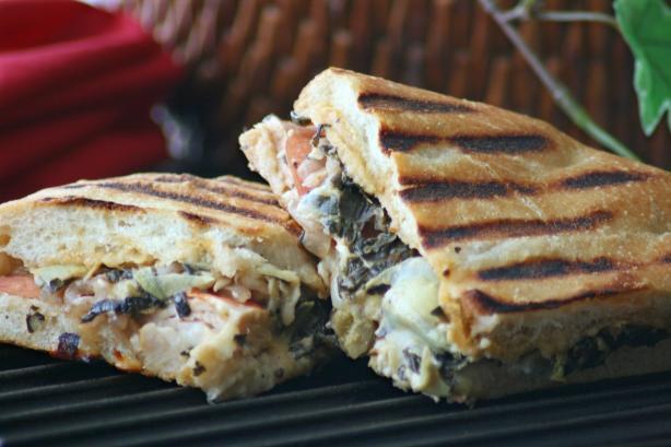 Panera Bread's Turkey Artichoke Panini
