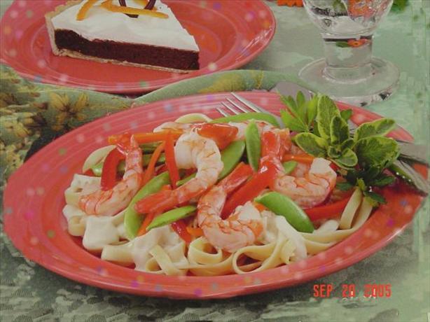 Shrimp & Veggie Alfredo