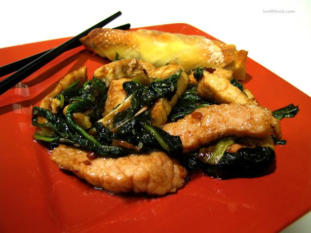 Pork With Spinach Stir Fry