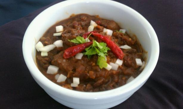Blazing Smoked Steak Chili