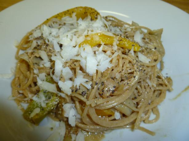 Angel Hair Pasta With Artichokes and Mustard Sauce