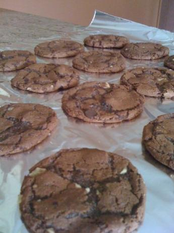 Vegan Double Chocolate Kahlua Cookies