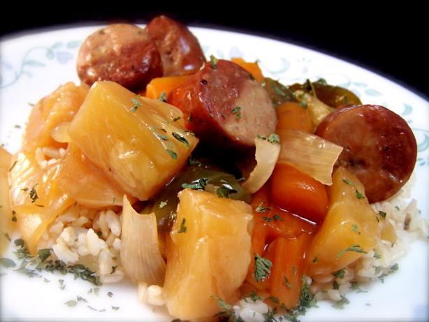 Sweet 'n' Sour Sausage-Crock Pot