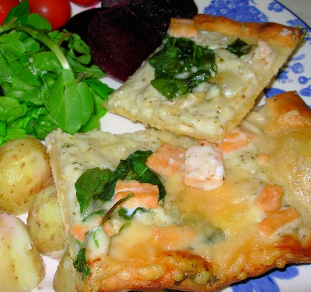Smoked Salmon and Goat Cheese Pizza