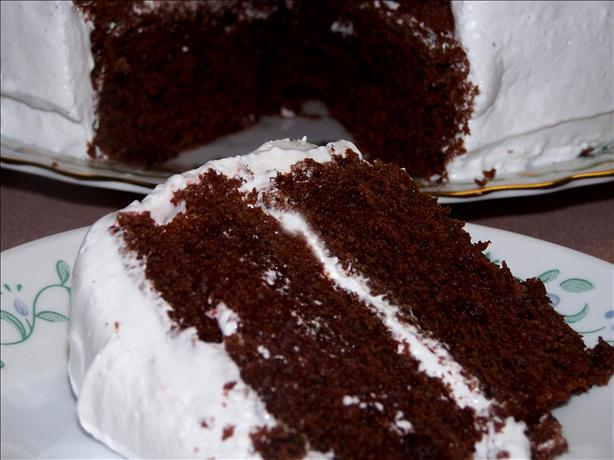 Devil's Food Cake Soaked in Rum
