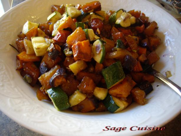 Roasted Butternut Squash and Carrots.