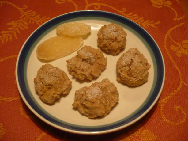 Gluten-Free Candied Ginger Cookies