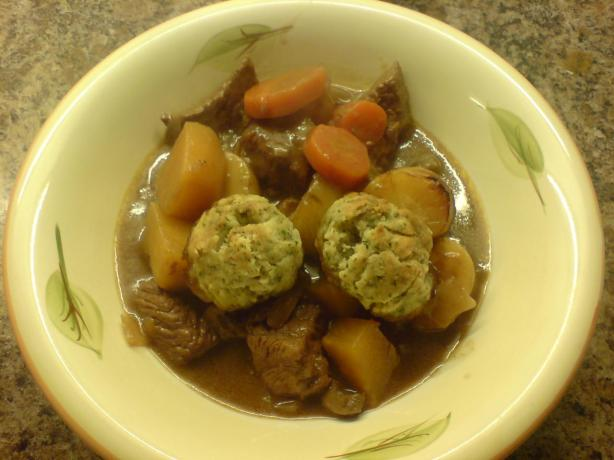 Beef in Ale Stew With Dumplings