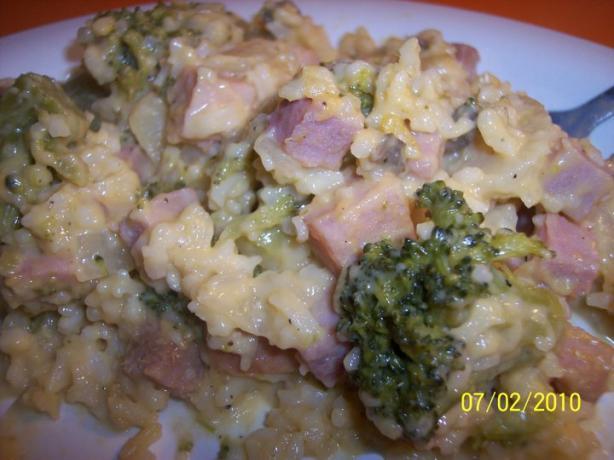 Broccoli & Cheese Rice (Crock Pot)