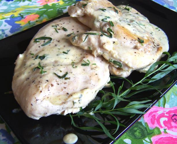 Chicken Breasts With Fresh Tarragon- Dijon Mustard Pan Sauce