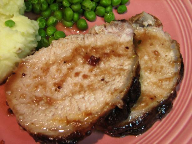 Pork Roast With a Cranberry Glaze