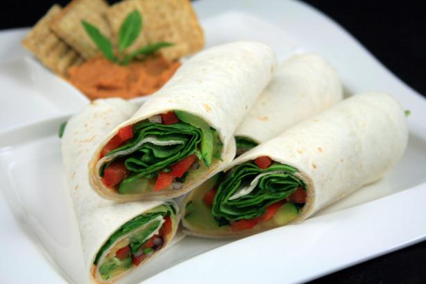 Hummus and Grilled Veggie Wrap