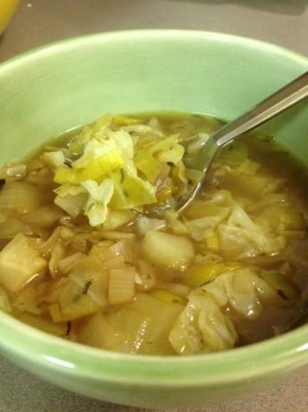 Potato Leek Soup With Cabbage
