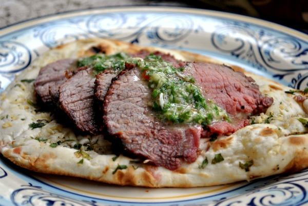 Argentinian Grilled Flank Steak With Chimichurri Sauce