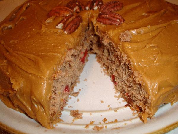 Mashed Potato Spice Cake With Caramel Frosting