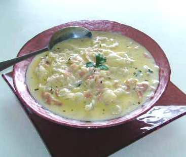 Waste Not, Want Not Creamy Cauliflower-Ham Soup