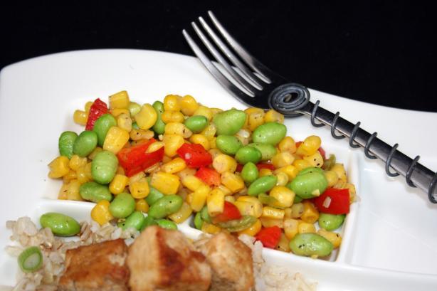 Liang Mu Di (Chinese Stir-Fried Corn and Edamame)
