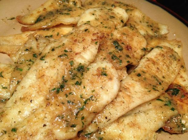 Easy Pan Fried Sole Fish With Lemon-Butter Sauce