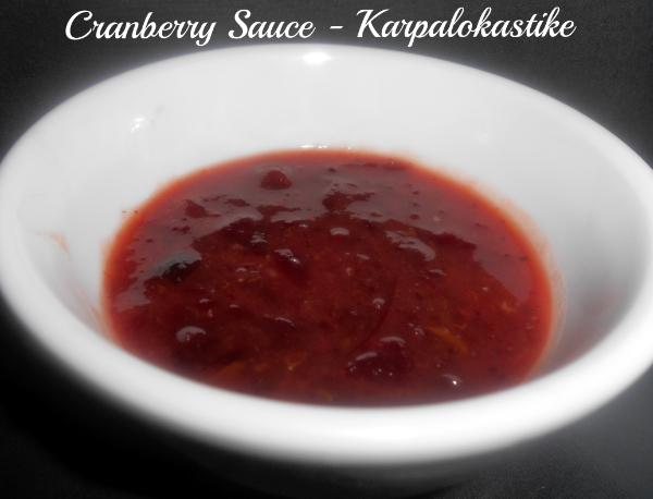 Cranberry Sauce - Karpalokastike