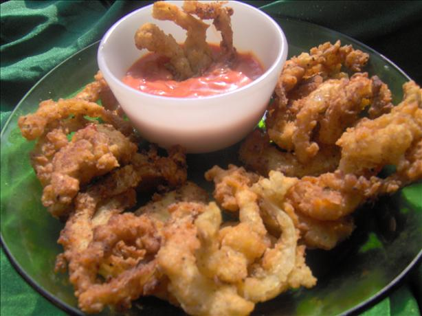 Shoestring Onion Rings and Batter