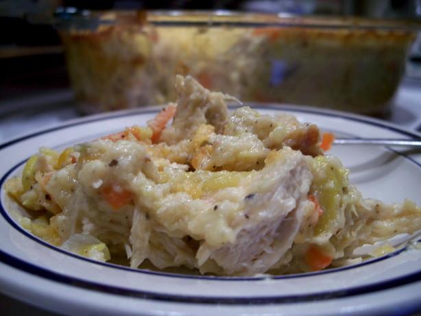 Paula Deen's Chicken, Squash & Cornbread Casserole
