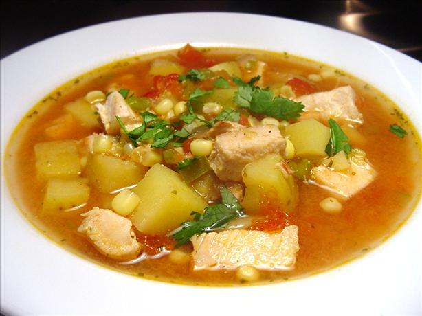 Southwestern Lemon Chicken Soup with Chilies