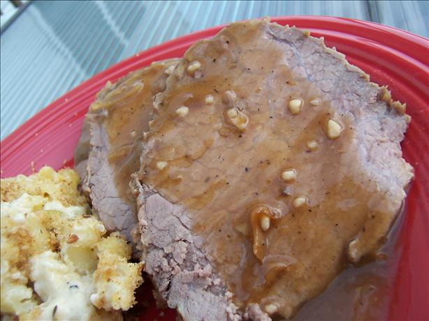 Beef Roast With Golden Mushroom Gravy