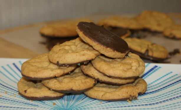Gluten Free Peanut Butter Cookies Dipped in Chocolate
