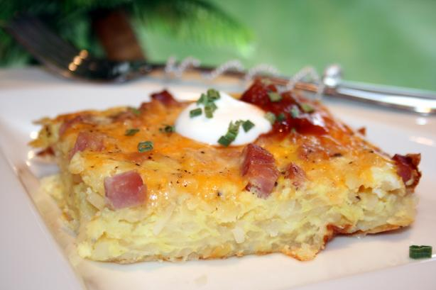 Breakfast Hash Brown Quiche