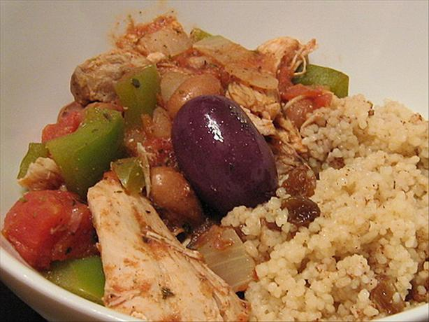 Greek Chicken Stew With Cinnamon Couscous