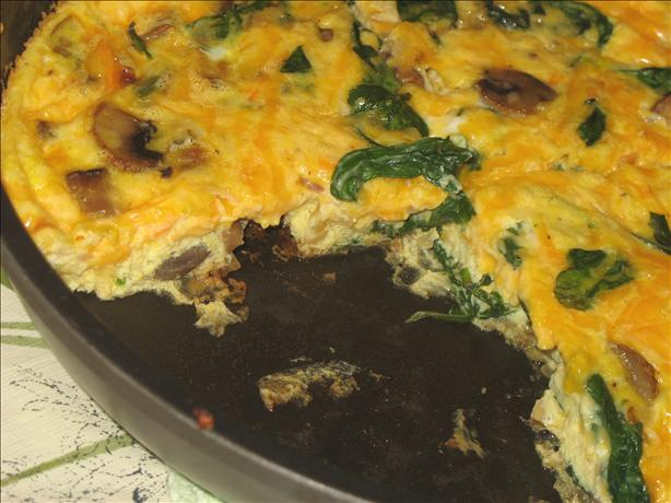 Veggie Frittata With Spinach and Mushrooms