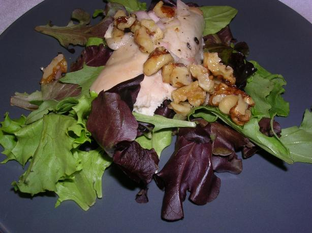 Roast Garlic Chicken and Walnut Salad