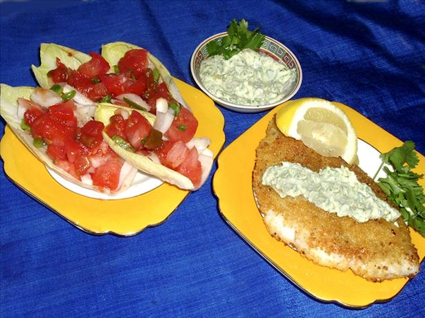Corn-Flake Crusted Fish Fillets With Chile-Cilantro Aioli