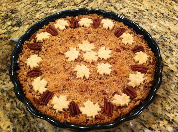 Apple Butter Pumpkin Pecan Streusel Pie