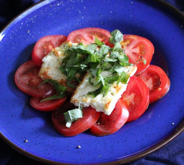Grilled Feta With Fresh Tomatoes