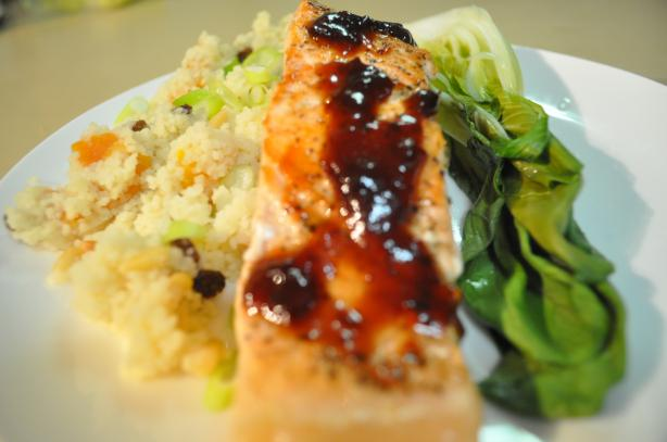 Pan-Fried Salmon With Warm Chilli ( Chili ) Lime Sauce)