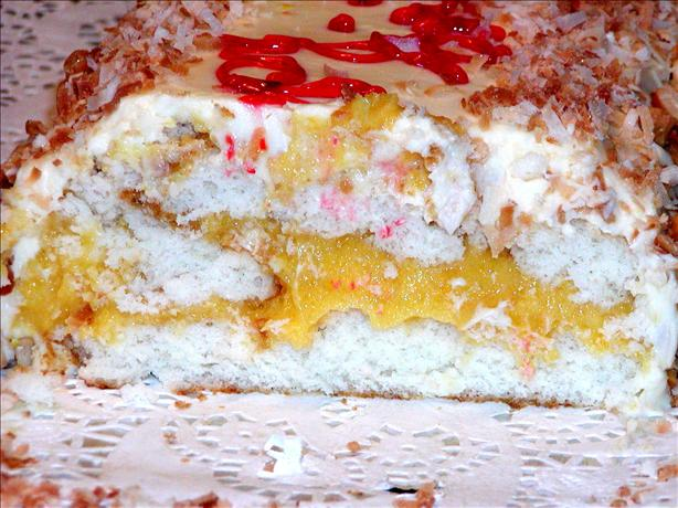 Apricot Filled Cake Roll