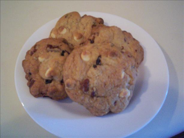 White Chocolate, Cherry and Pecan Cookies
