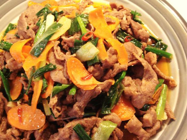 Stir-Fry Mutton With Chinese BBQ Sauce