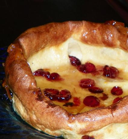Dutch Baby With Cranberry Orange Syrup