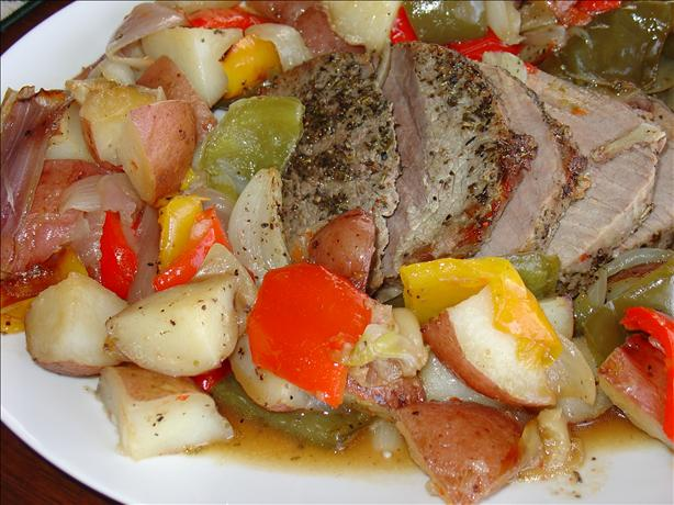 All-In-One-Pan Roast and Vegetables