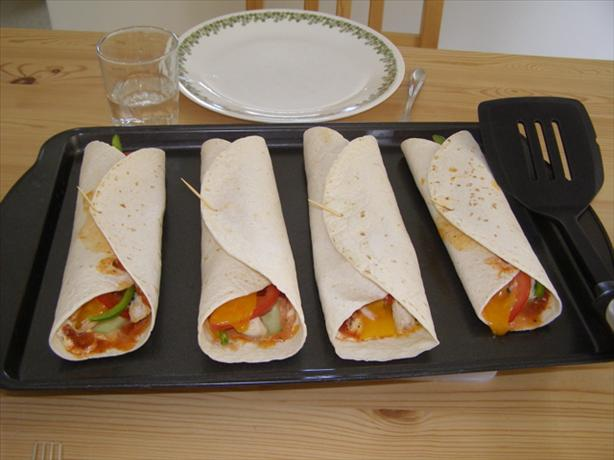 Salsa Ranch Chicken Wraps