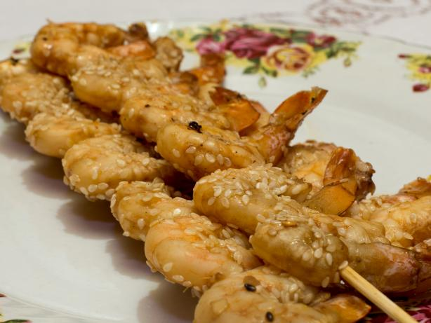 Sesame Prawn (Shrimp) Skewers