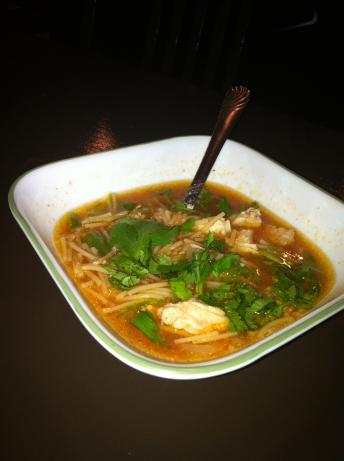 Sopa De Fideo Con Pollo ( Mexican Chicken Noodle Soup)