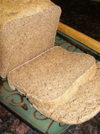 Sugar-Free, Fat-Free Whole Wheat Bread [ Bread Maker ]