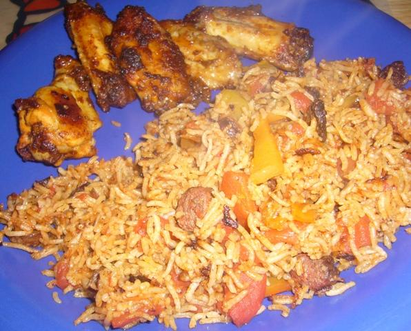 Egyptian Rice With Spicy Tomato Sauce
