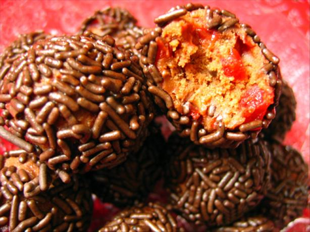 Chocolate Cherry Kid Friendly Rum Balls