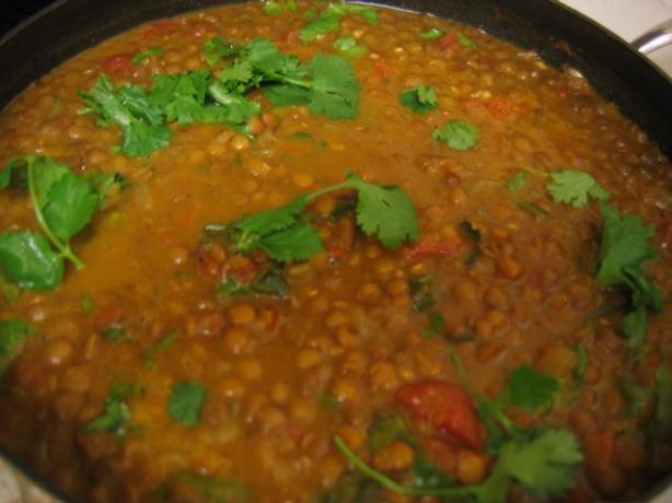 Curry Lentils With Chicken