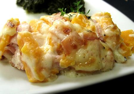 Cheesy Ham and Sweet Potato Casserole